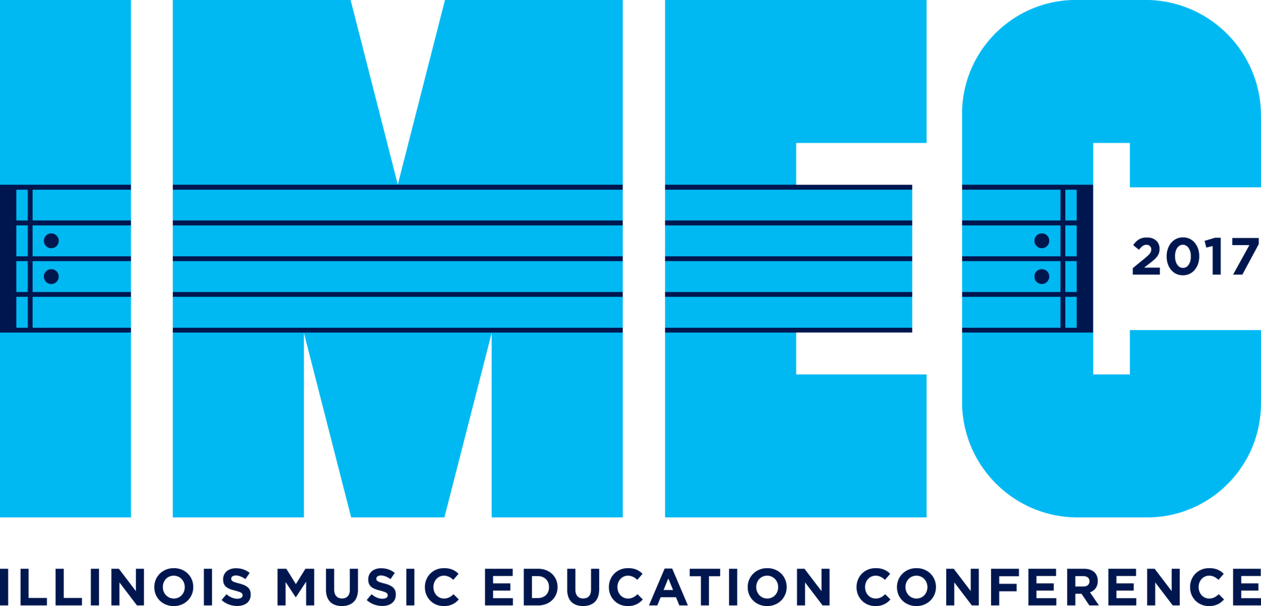 Blue 2017 Illinois Music Education logo