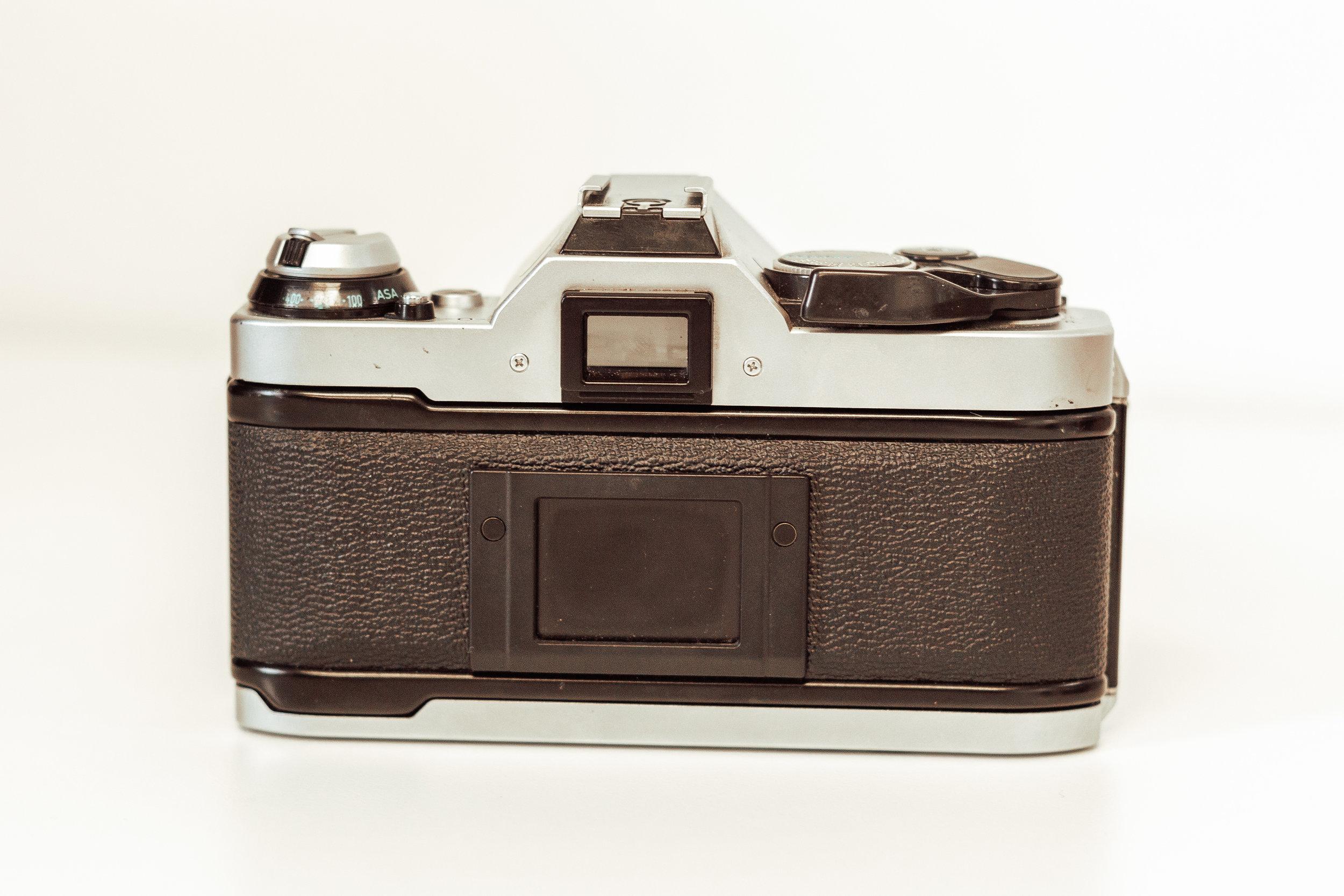 back of Canon AE-1 Program
