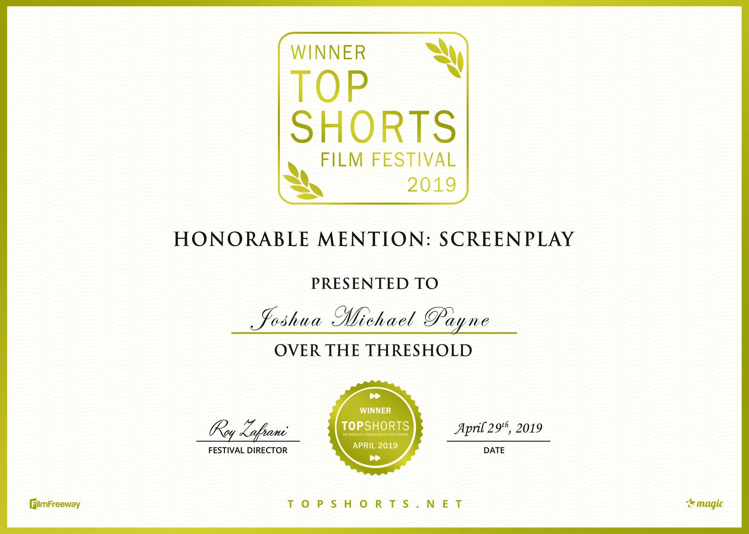 Best Screenplay HM - Top Shorts.jpg