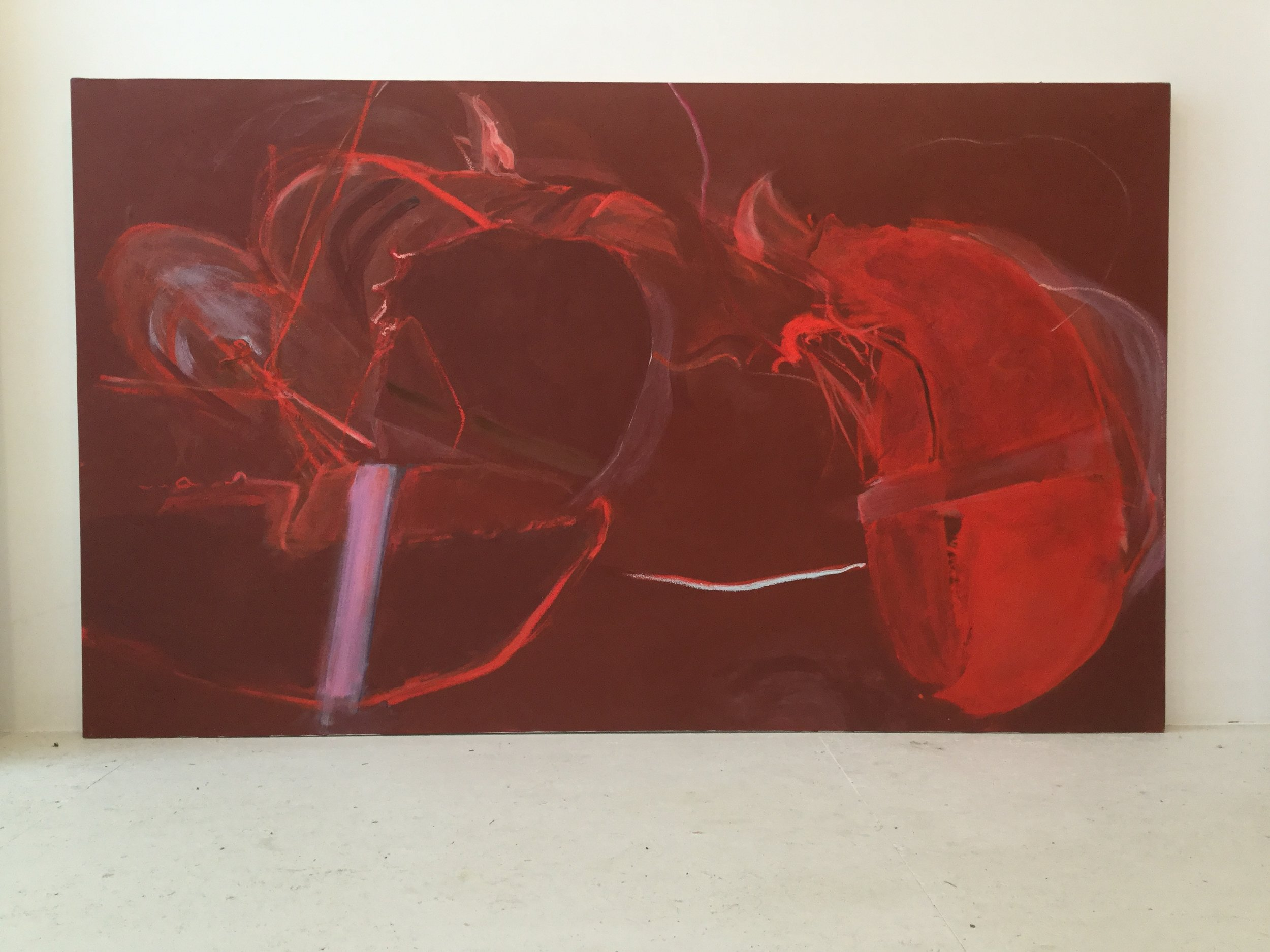 oil and house paint on canvas  36x60