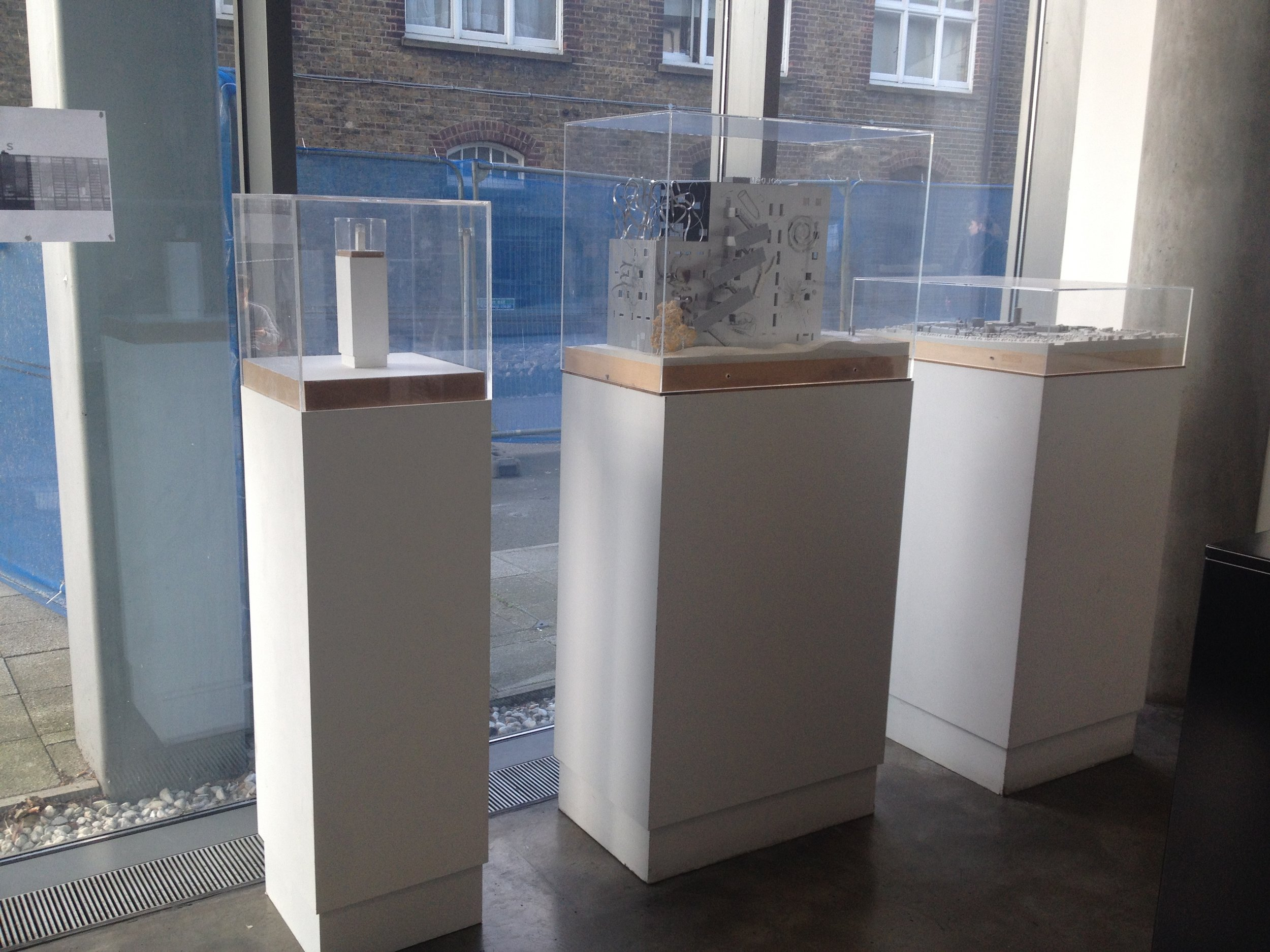 Mengtai Zhang's sculpture, a fake plinth (the left one), 2014