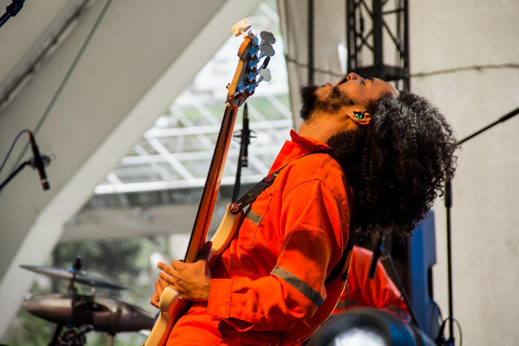 Jeffry durante su presentación en el Contracorriente Festival (2018).