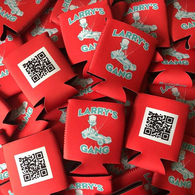 The #larrysgang koozies have arrived. Thanks @totallypromotional  #thisismay