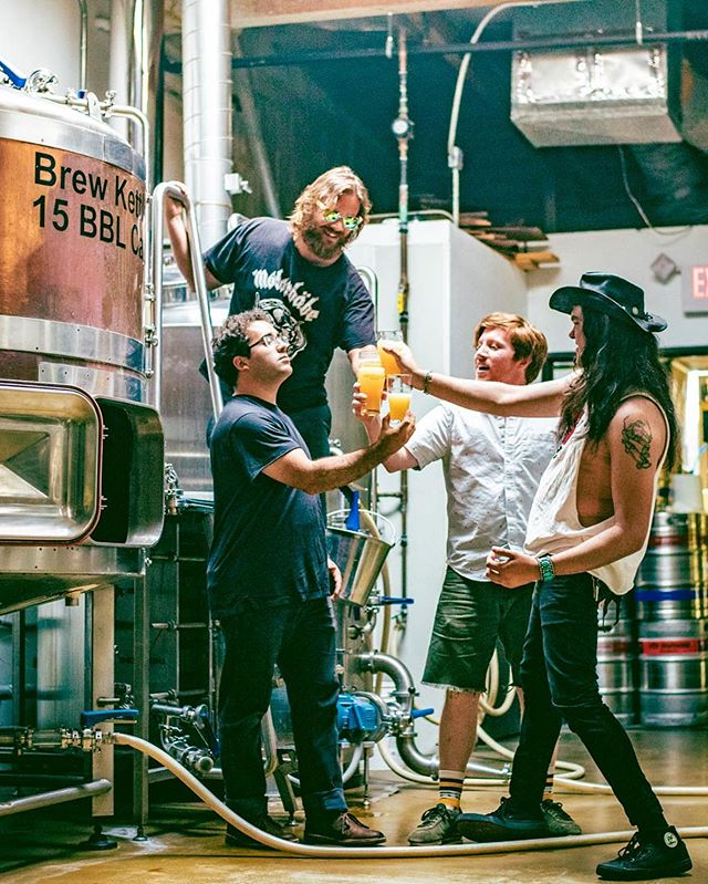 We have our own beer!🍺 AVIATOR STASH IPA Thanks to @dosdesperadosbrew This Hazy IPA will be released tomorrow @pourhouseoceanside Come party with us @inspiredandthesleep & @phantomtwins  #ipa#beer#release#brewery#live#music#indie#rock#altrock#brew#funk#dosdesperados#aviatorstash#pourhouse#oceanside#party#tbt#thirstythursday