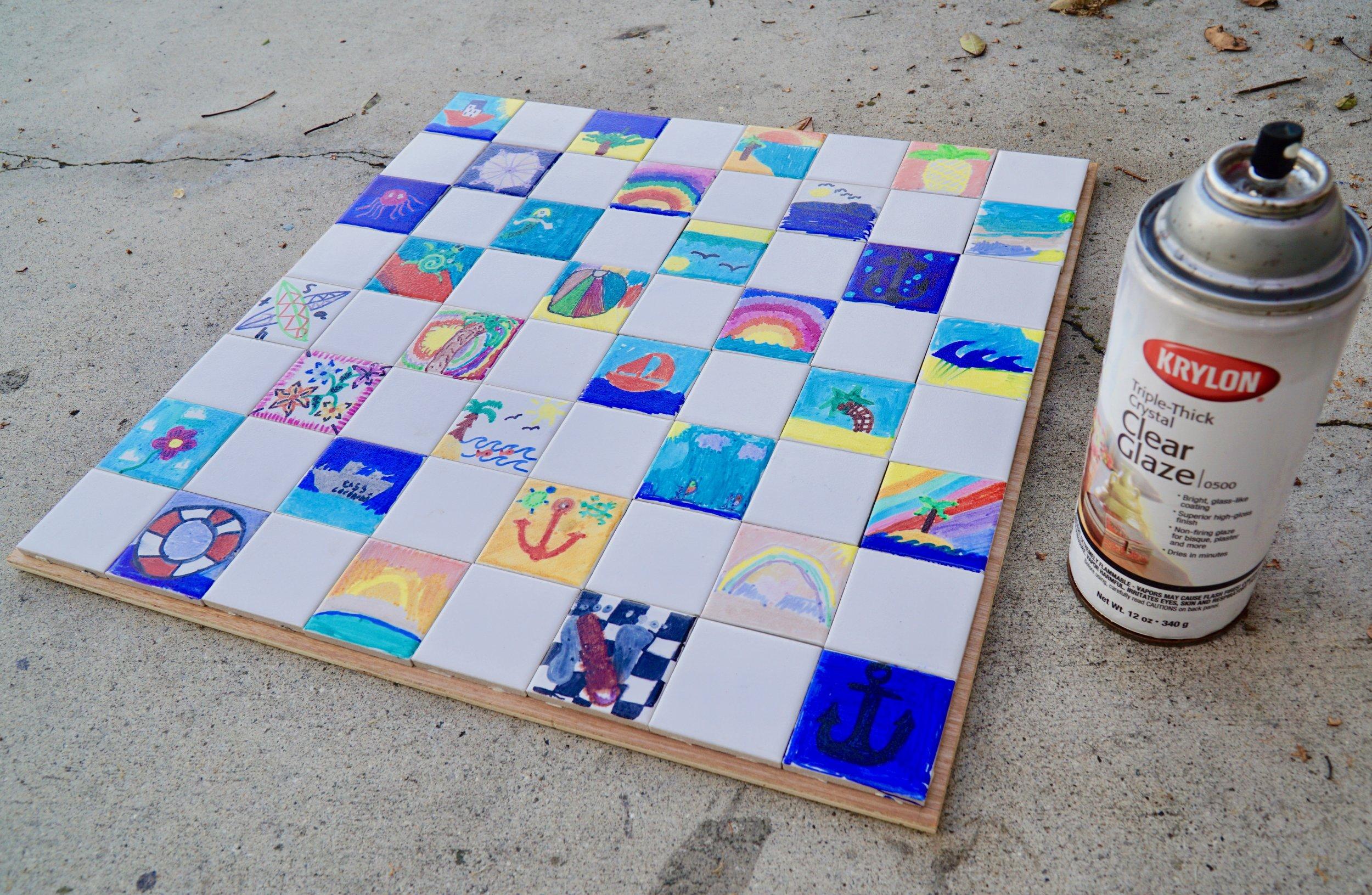 Sealing the tiles