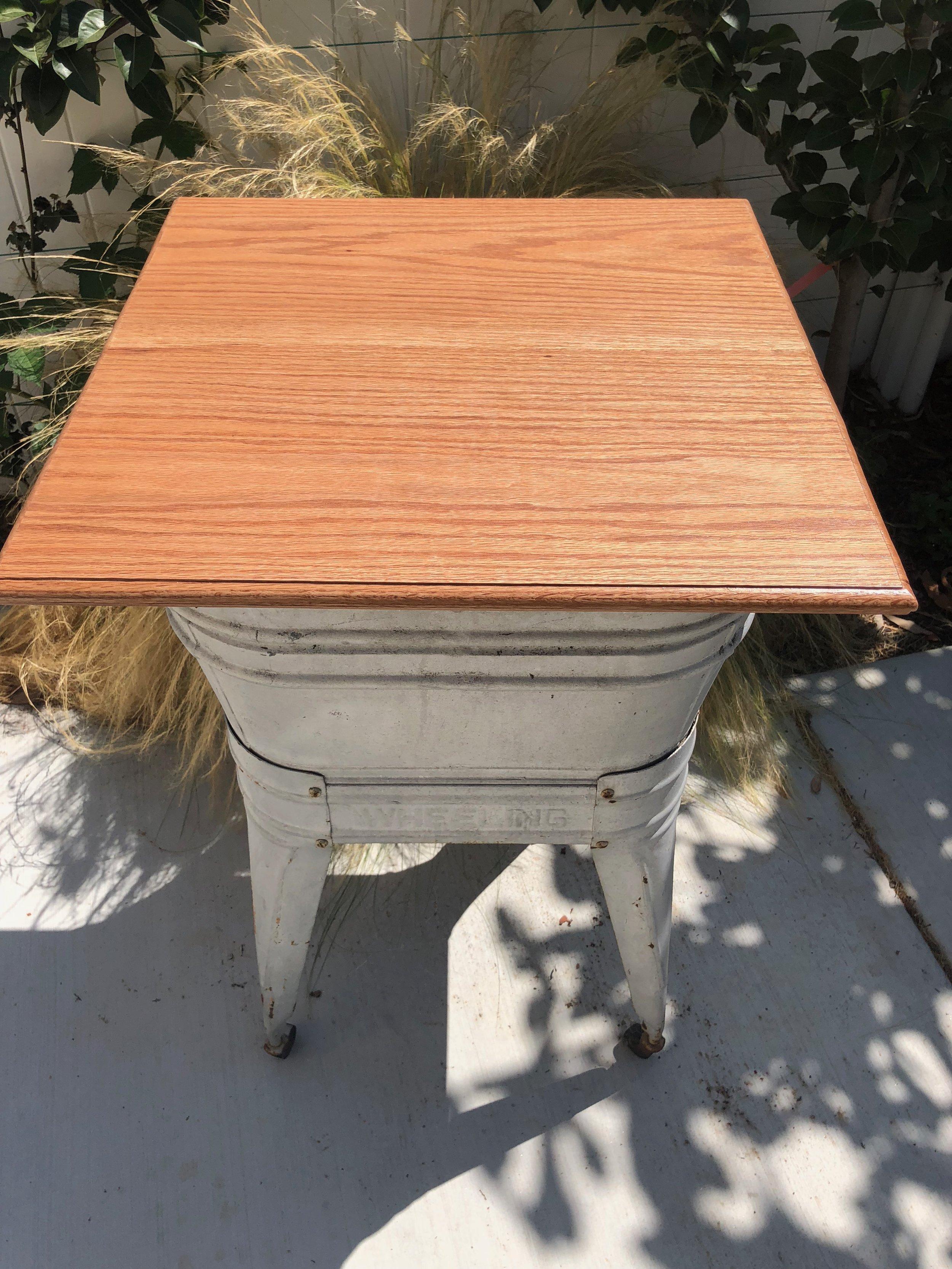 Washtub Table top