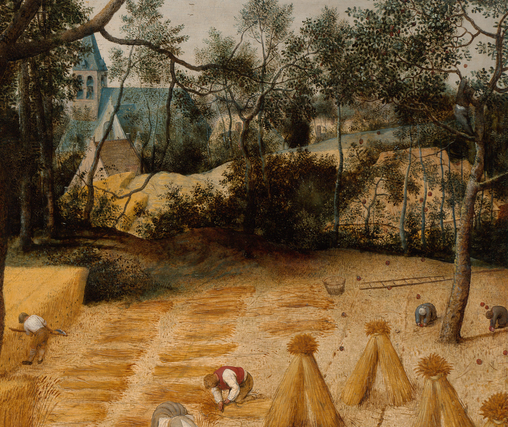 Detail from The Harvesters by Pieter Bruegel
