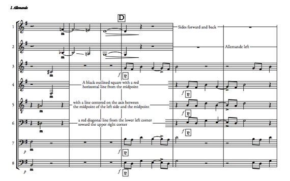 """Excerpt from """"Allemande,"""" from Caroline Shaw's  Partita for 8 Voices"""
