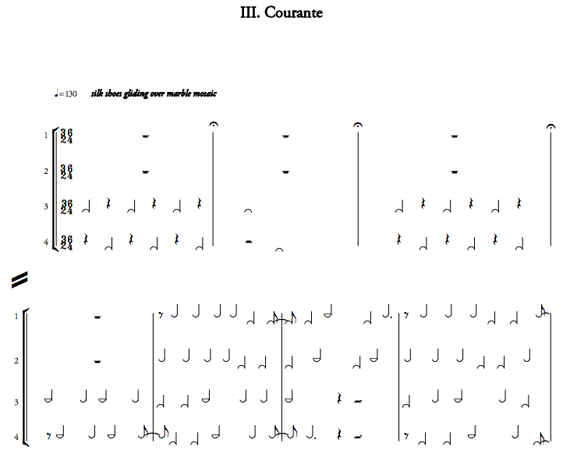 """Excerpt from """"Courante,"""" from Caroline Shaw's  Partita for 8 Voices"""