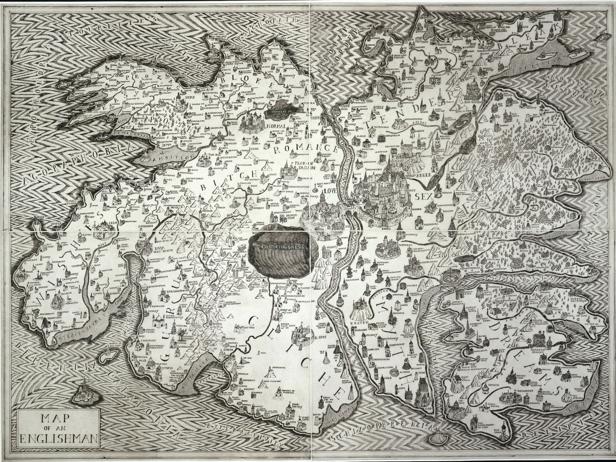 Grayson Perry,  Map of an Englishman