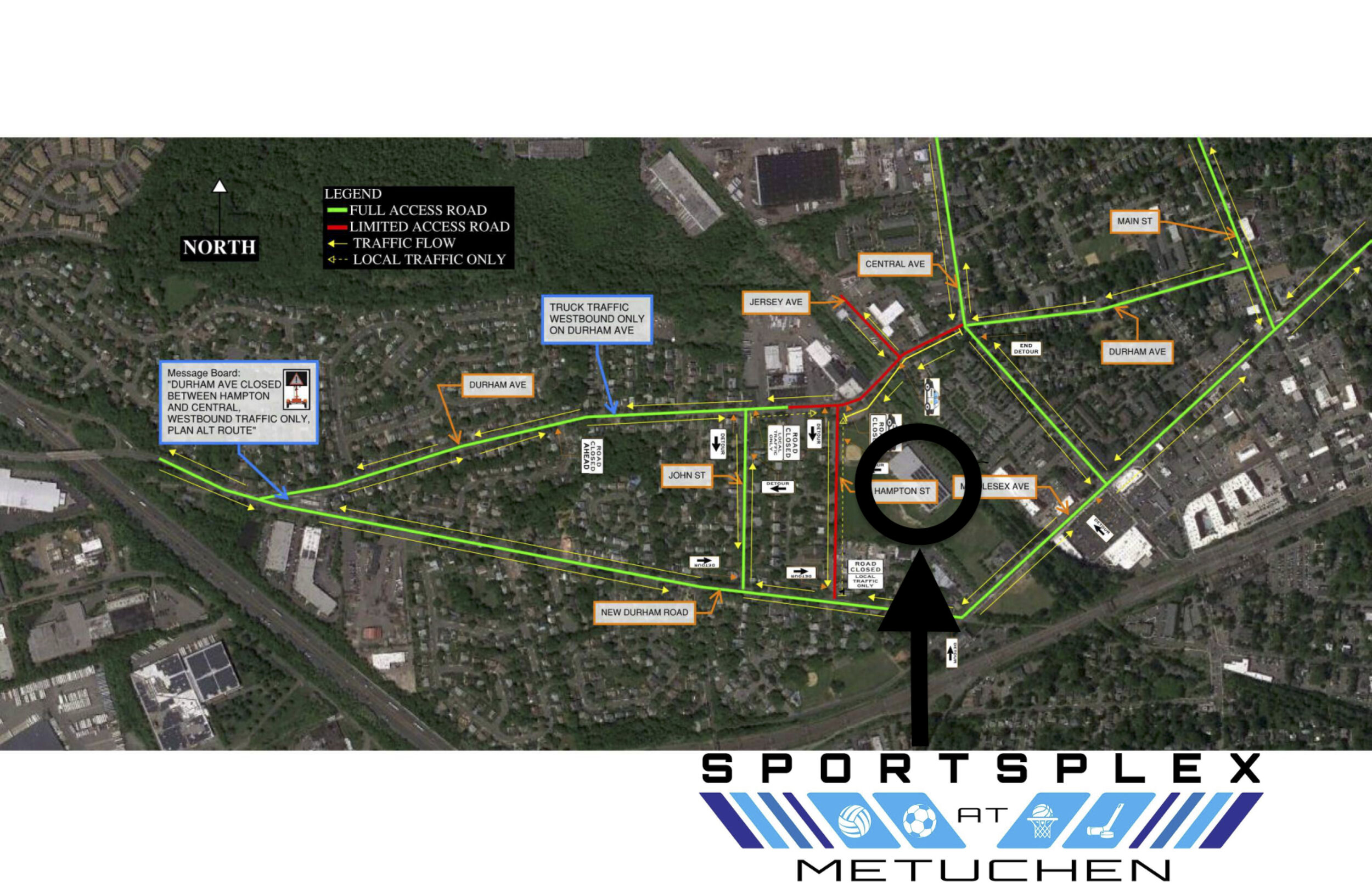 """Effective September 23rd, 2019:  Middlesex Water Company will be doing construction in the Metuchen area. The construction requires road closures and traffic detours will be made on Durham Avenue, which is the street we are located on. Above is a map to help everyone find us during these estimated 6 weeks of construction. An informative video is below, provided by the Metuchen Media, to explain the work that will be completed.    Metuchen Media Informational Video:    https://www.youtube.com/watch?v=mI9jEVfdQw0   """""""