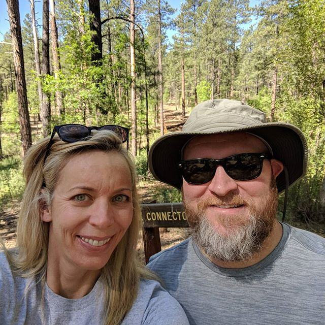 Still smiling from a fun weekend in the mountains -- hiking, fishing and our favorite card game (cribbage) to celebrate Jay's birthday! Jenny even let Jay win at cribbage, twice. 😉