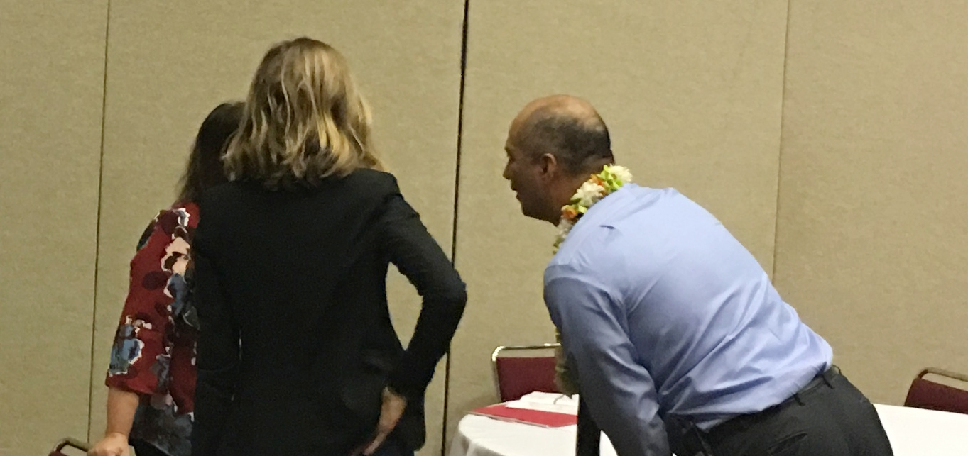 Jimmy Casas, working with educators on role play at the conference. [Hawaii 2018]