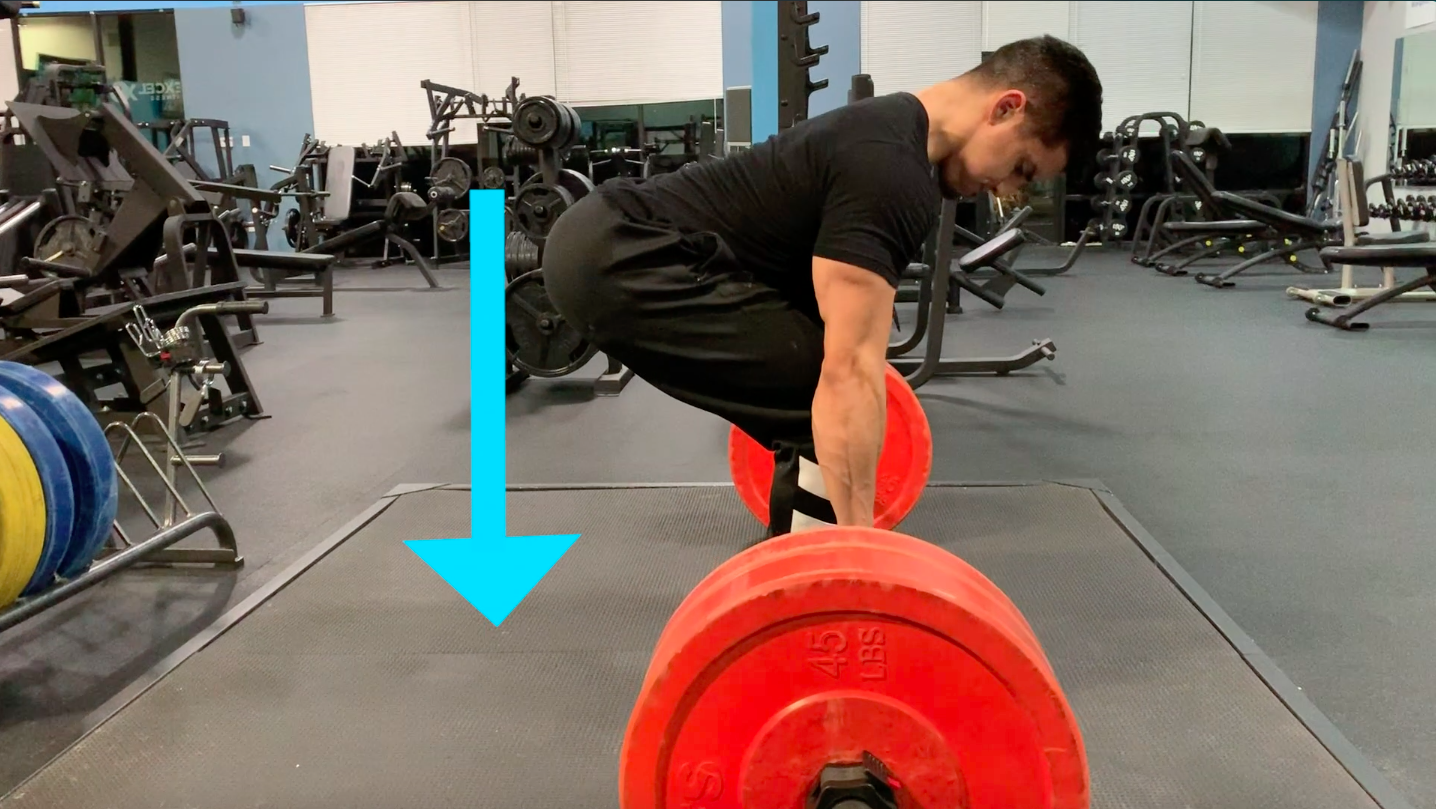 push ground away to deadlift