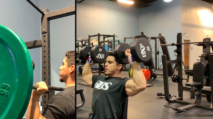 barbell press vs shoulder press