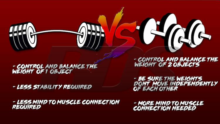 db press vs barbell press