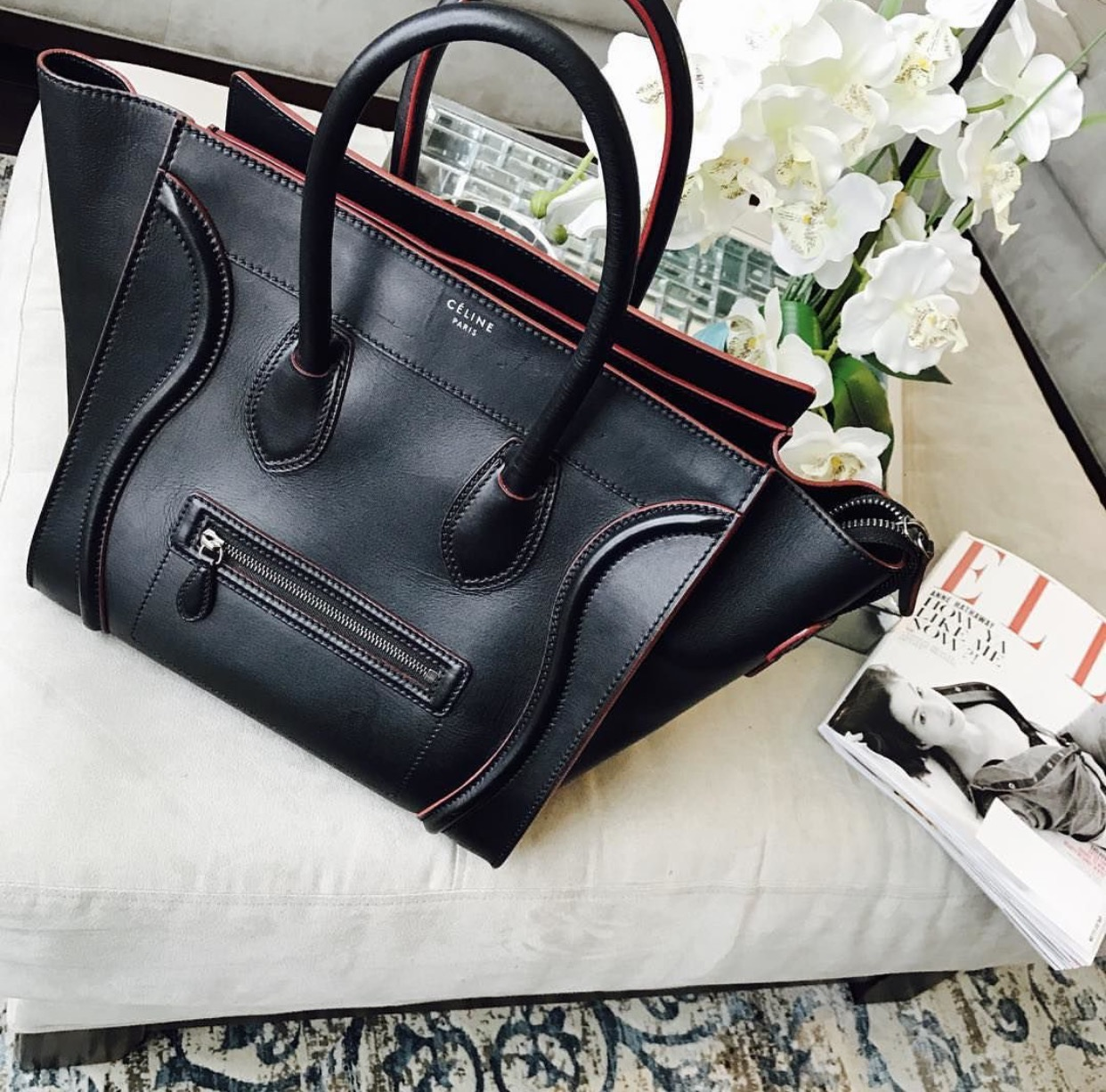 celine luggage - Now this bag is one that you don't see a lot of on my Instagram page but this is definitely my most worn bag. This is the perfect travel/work bag, you can fit everything in it and it makes any outfit look chic. I purchased this bag pre-loved from Fashionphilein February of this year and it still looks brand new. I wear it almost everyday to work and I use it as my carry-on whenever I travel.