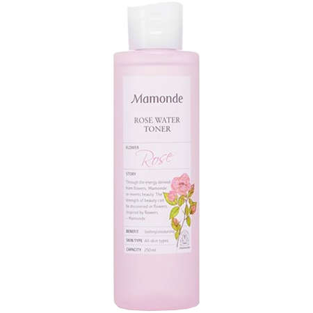 Mamonde Rose Water Toner - I love this toner for daily use, it's super gentle and smells great but also leaves my skin feeling hydrated and clean. I use it after cleansing and before I moisturize.