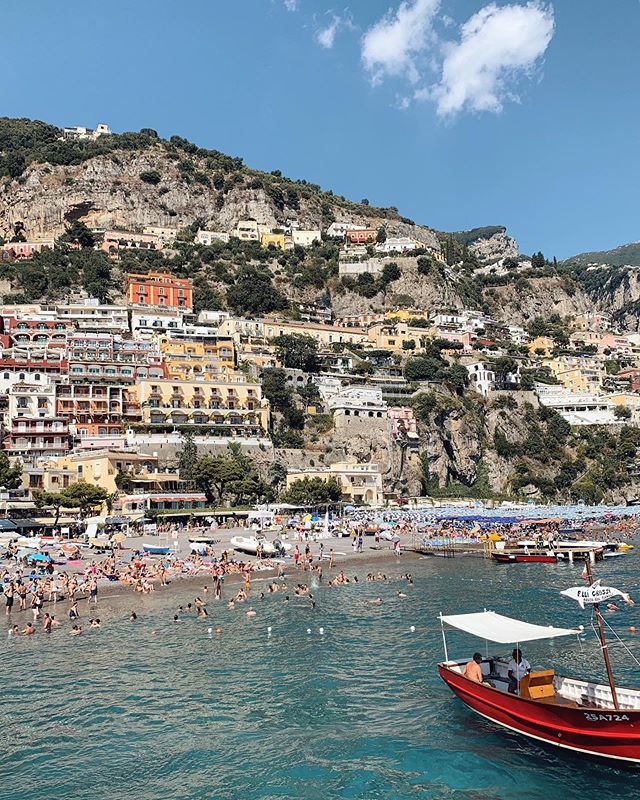 Boat trip to Positano...... and it's Beautiful😍😍😍