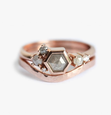 Rose Gold Cluster Ring