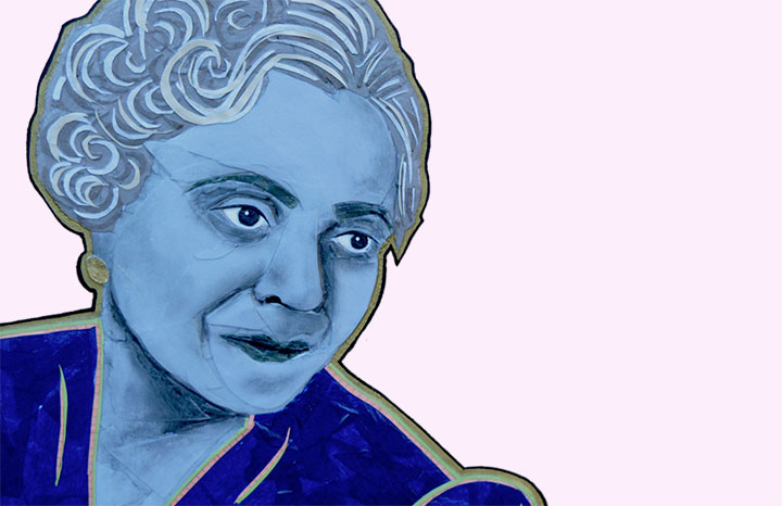 Portrait of Florence Price by Monica Jordan of Paper & Wood Co.