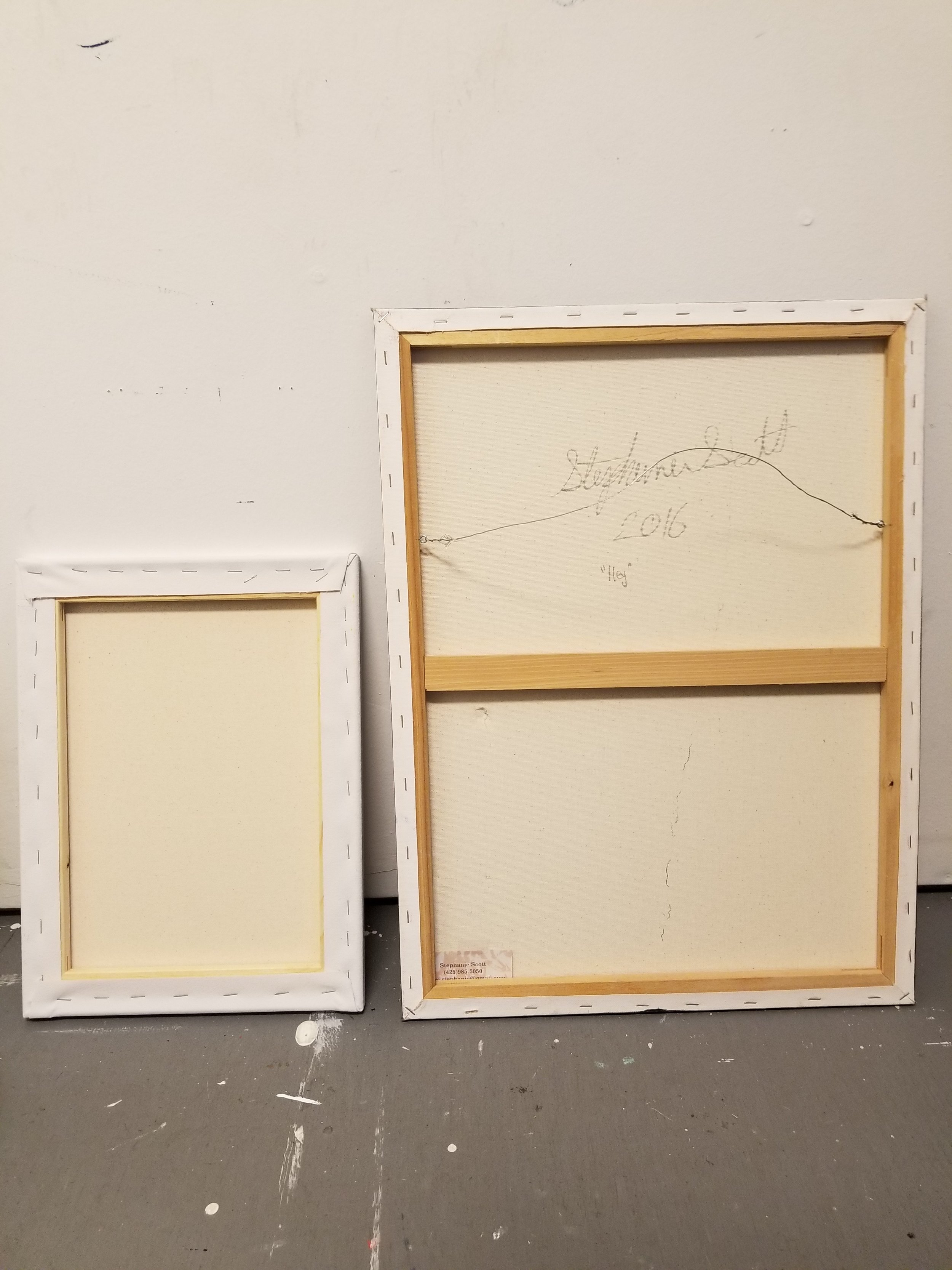 About to strip these old paintings!