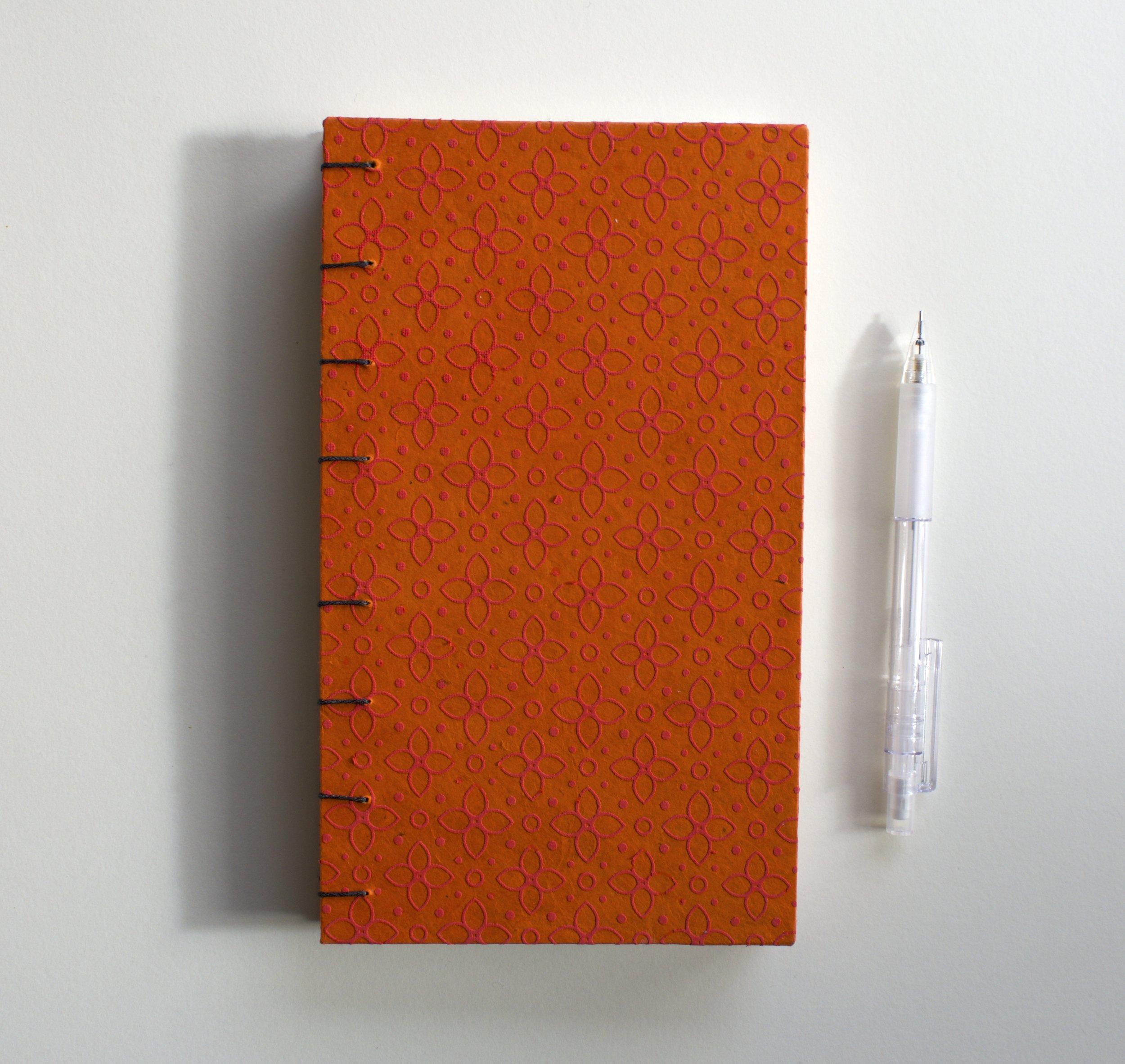 Orange Patterend Book
