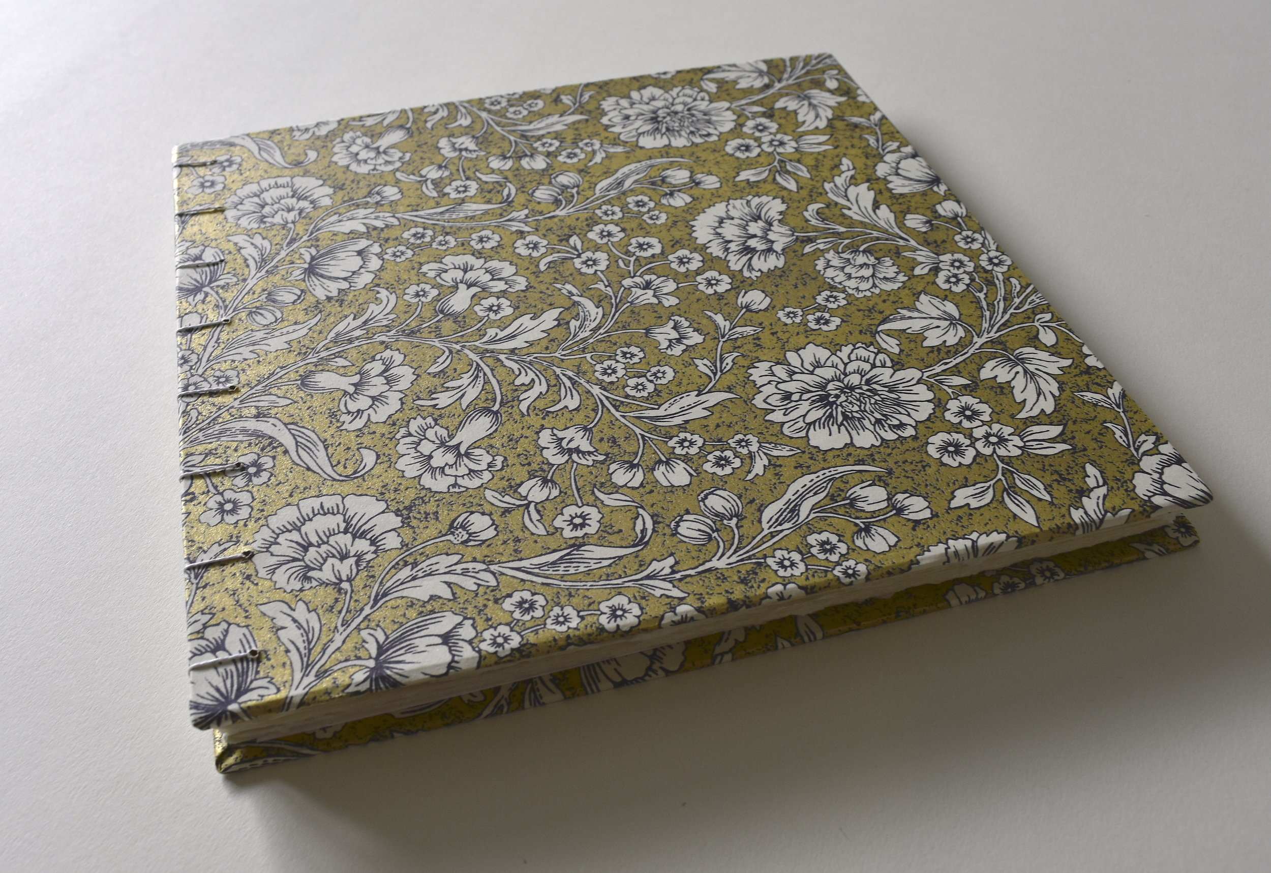 """Gold foil wedding guestbook"" 2019  8x8 inches, 40 pages  Commissioned book, paper from Papersource"