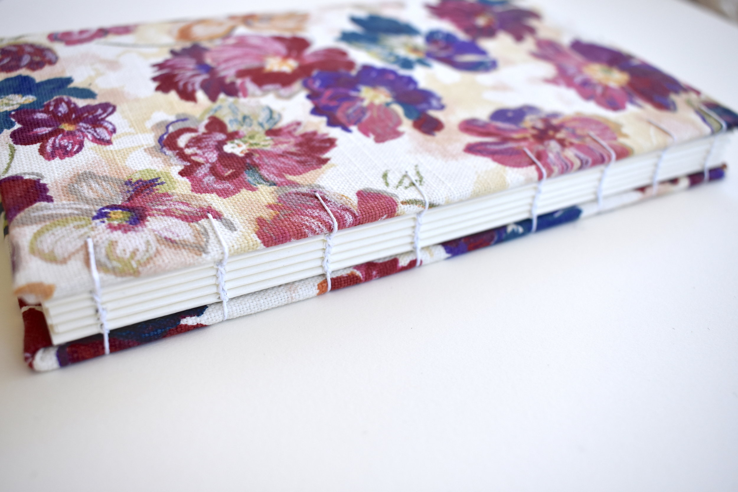 Rainbow cloth floral book, 2019