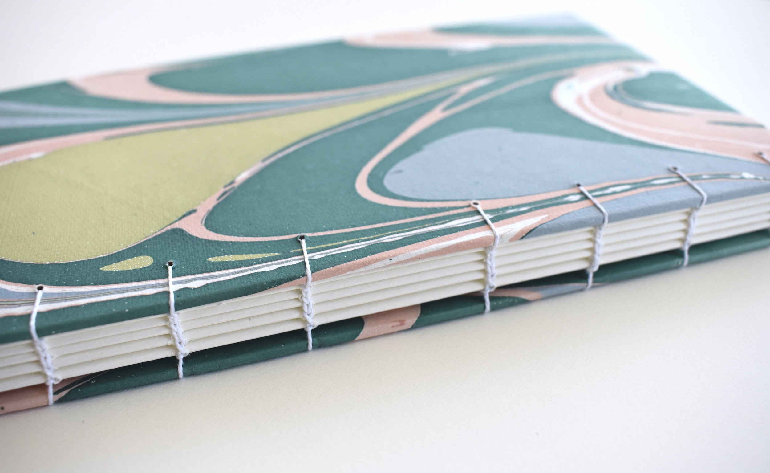 Large teal and pink marble book, 2019