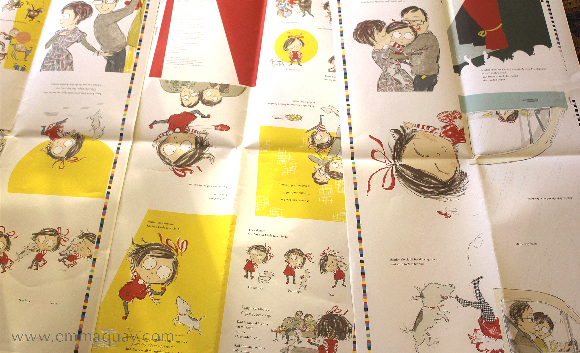 Once the design was finalised, the pages and cover were proofed. I checked the print proofs to check all the colours looked as I hoped. They did – phew!
