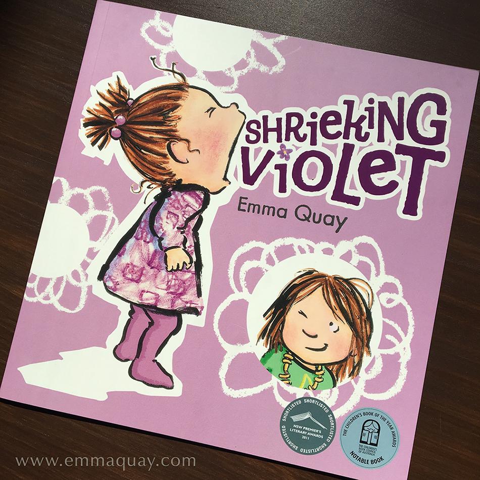SHRIEKING VIOLET by Emma Quay, a children's picture book(ABC Books) •http://www.emmaquay.com