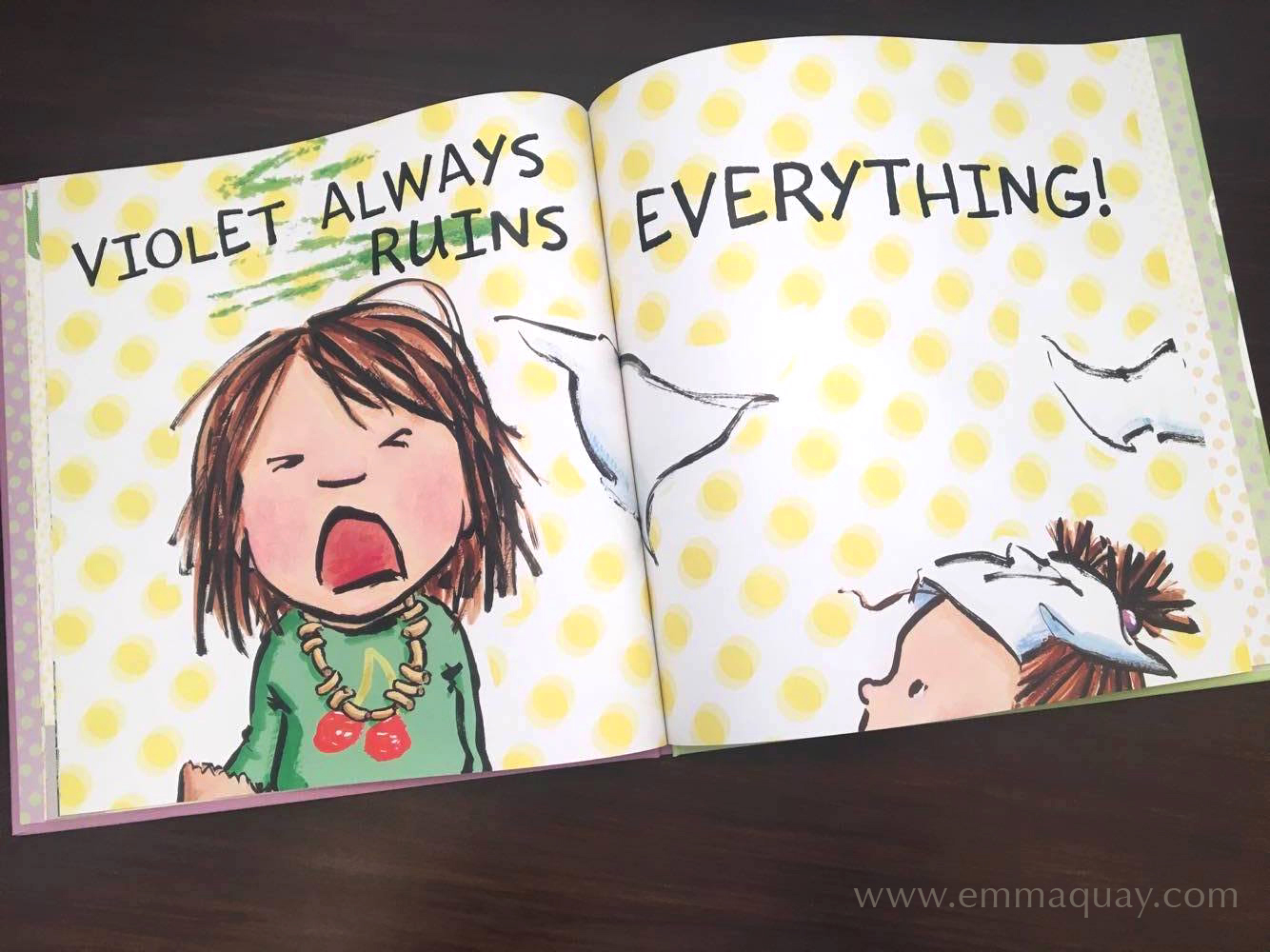 """Illustration by Emma Quay from SHRIEKING VIOLET (ABC Books) • http://www.emmaquay.com""""Violet always ruins everything!"""""""