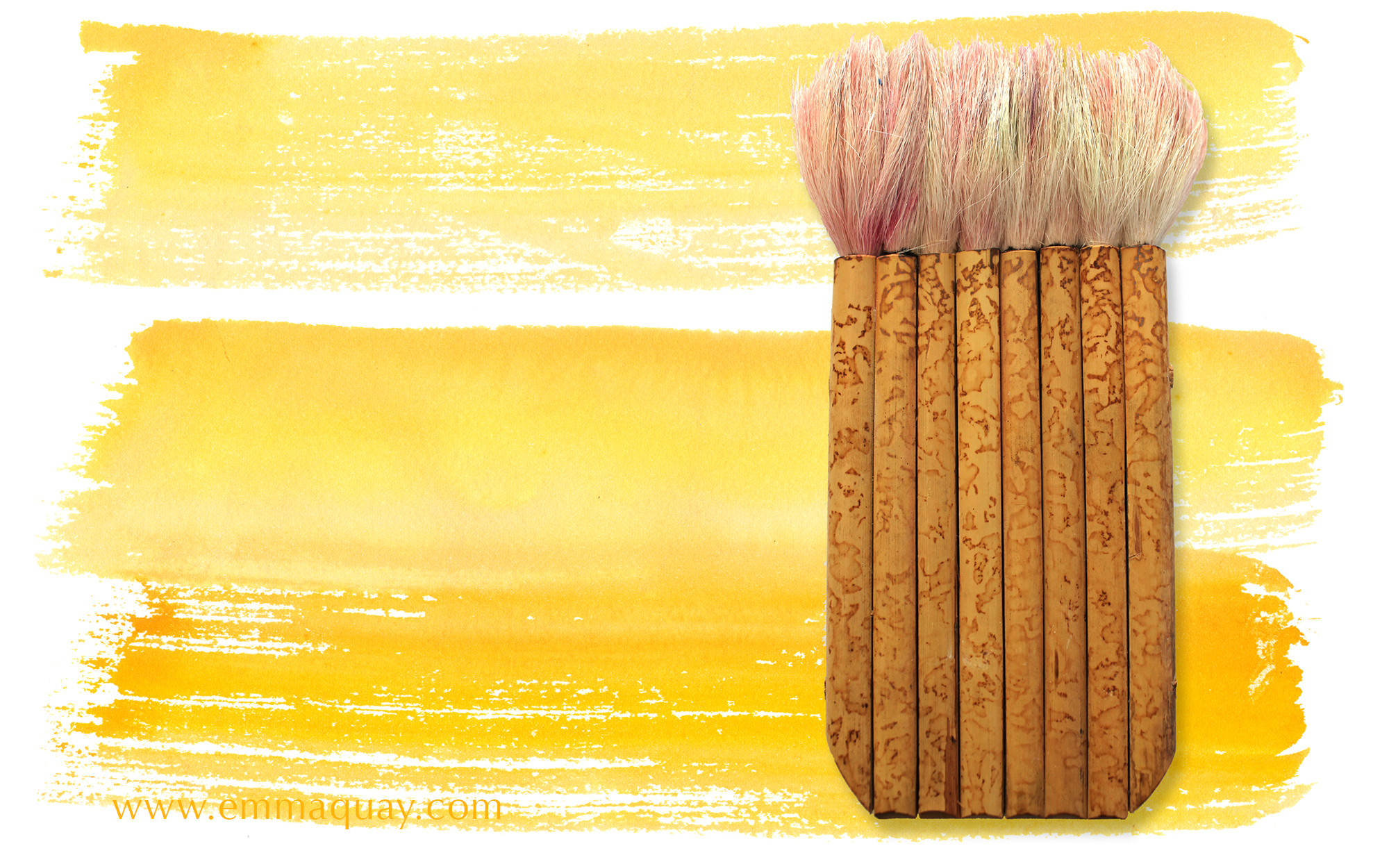 This soft and wide Japanese brush was great for the sweeps of colour at sunset. Some brushes are a pleasure to use.