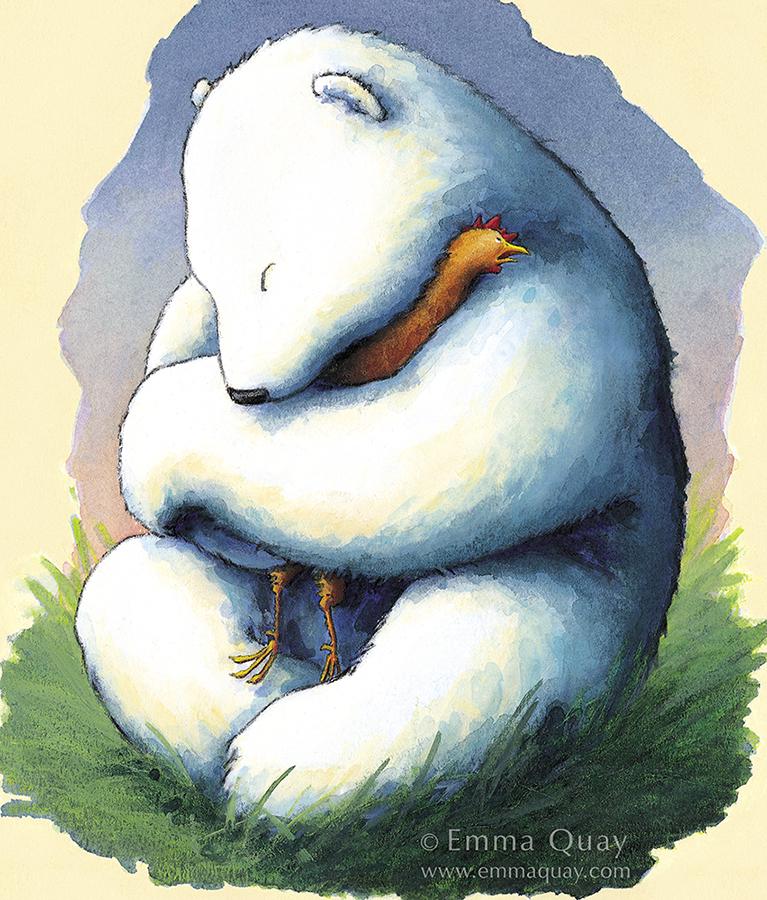 Bear hug illustration from BEAR AND CHOOK by Lisa Shanahan and Emma Quay (Lothian Books) • http://www.emmaquay.com