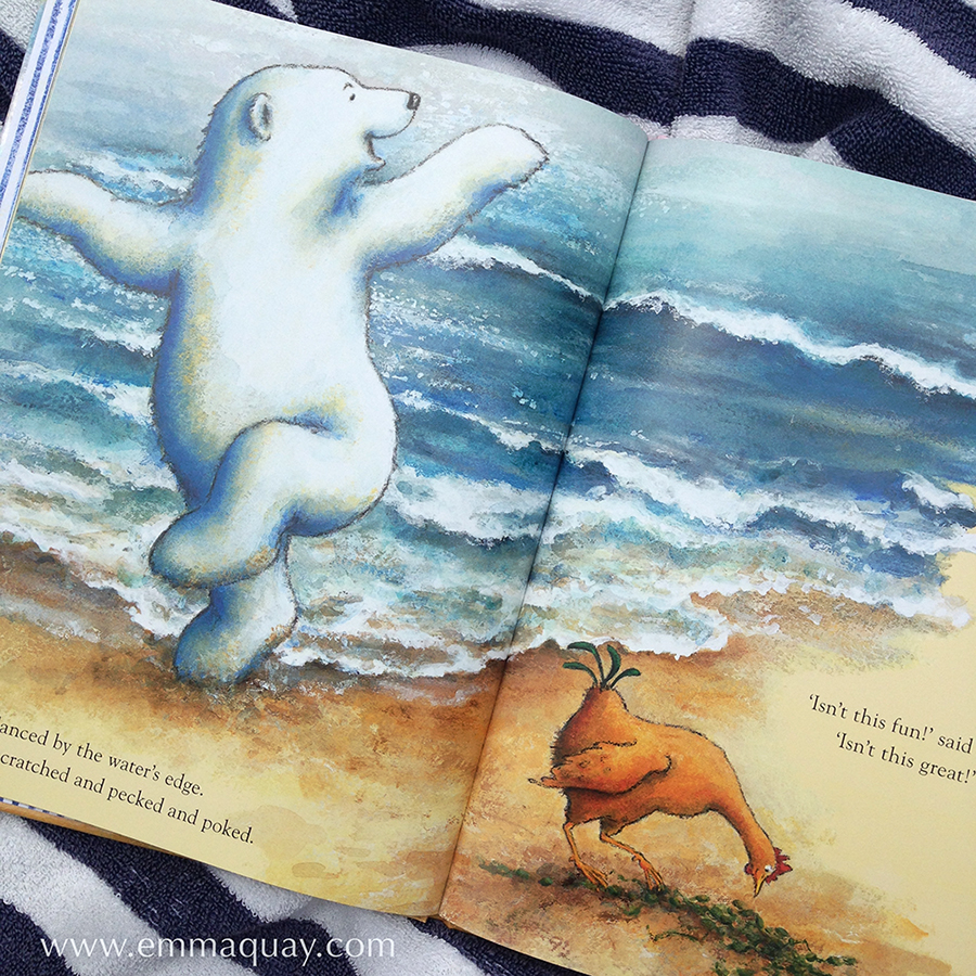 Illustration fromBEAR AND CHOOK BY THE SEA by Lisa Shanahan and Emma Quay(Lothian Books) •http://www.emmaquay.com