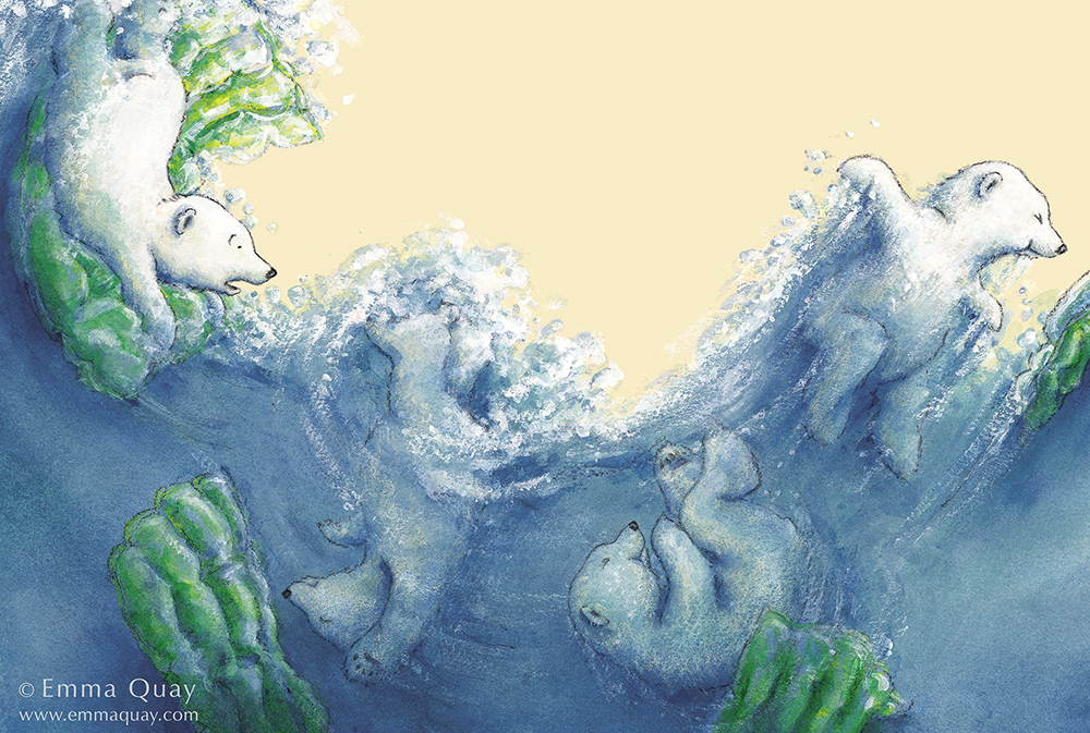 Illustration fromBEAR AND CHOOK BY THE SEA by Lisa Shanahan and Emma Quay (Lothian Books) •http://www.emmaquay.com