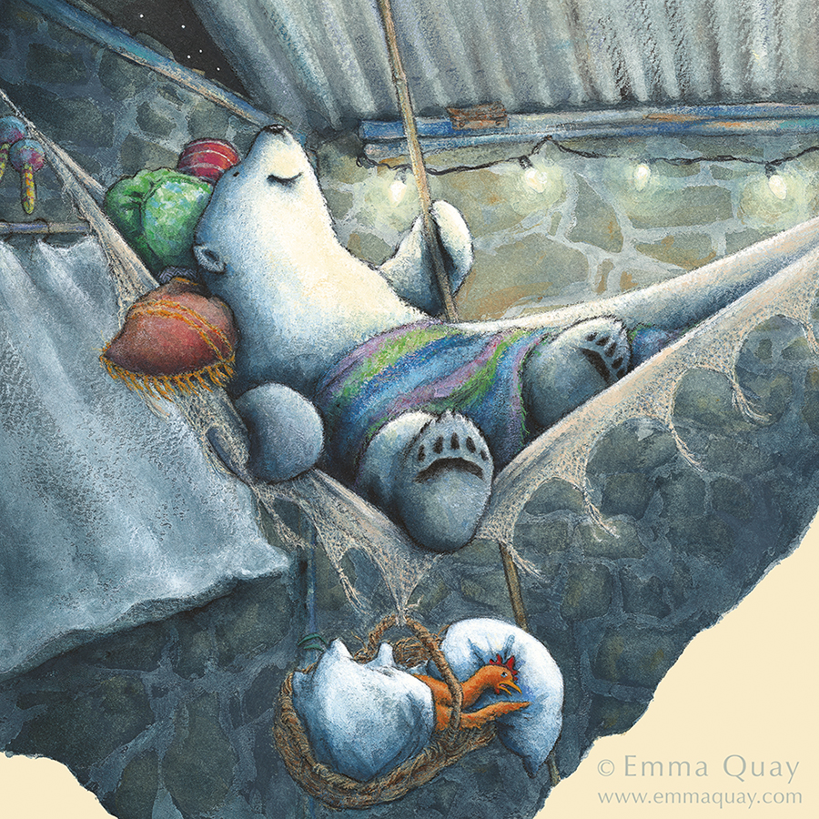 Illustration from BEAR AND CHOOK BY THE SEA by Lisa Shanahan and Emma Quay (Lothian Books) •http://www.emmaquay.com