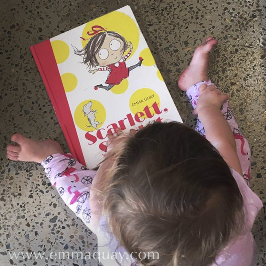 Reading SCARLETT, STARLET, a picture book by Emma Quay (ABC Books) — www.emmaquay.com