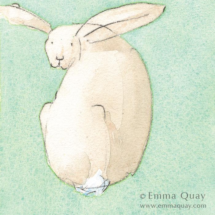HARE • Emma Quay limited edition print •  http://www.emmaquay.com/shop/