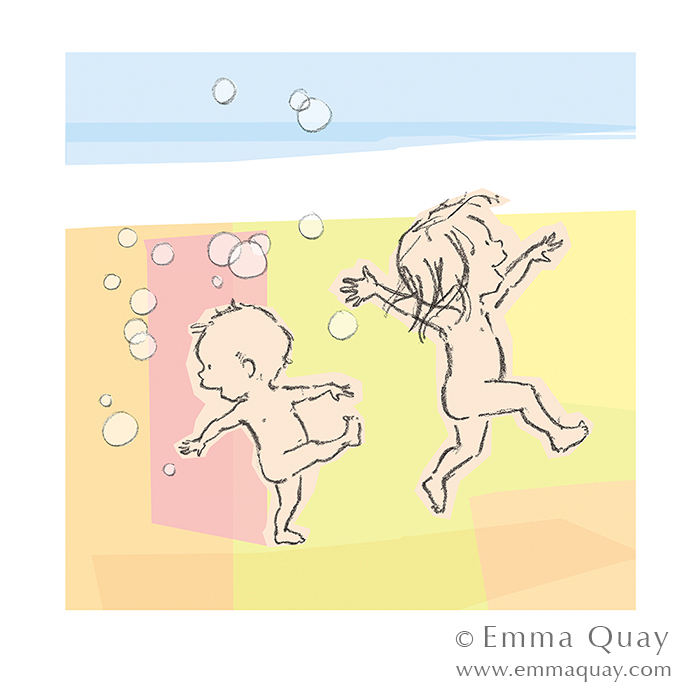 RUDIE NUDIE by Emma Quay • limited edition print • http://www.emmaquay.com/shop/