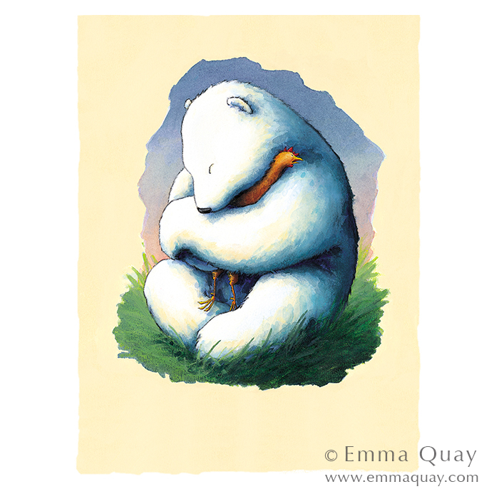 BEAR AND CHOOK • Emma Quay limited edition print • www.emmaquay.com