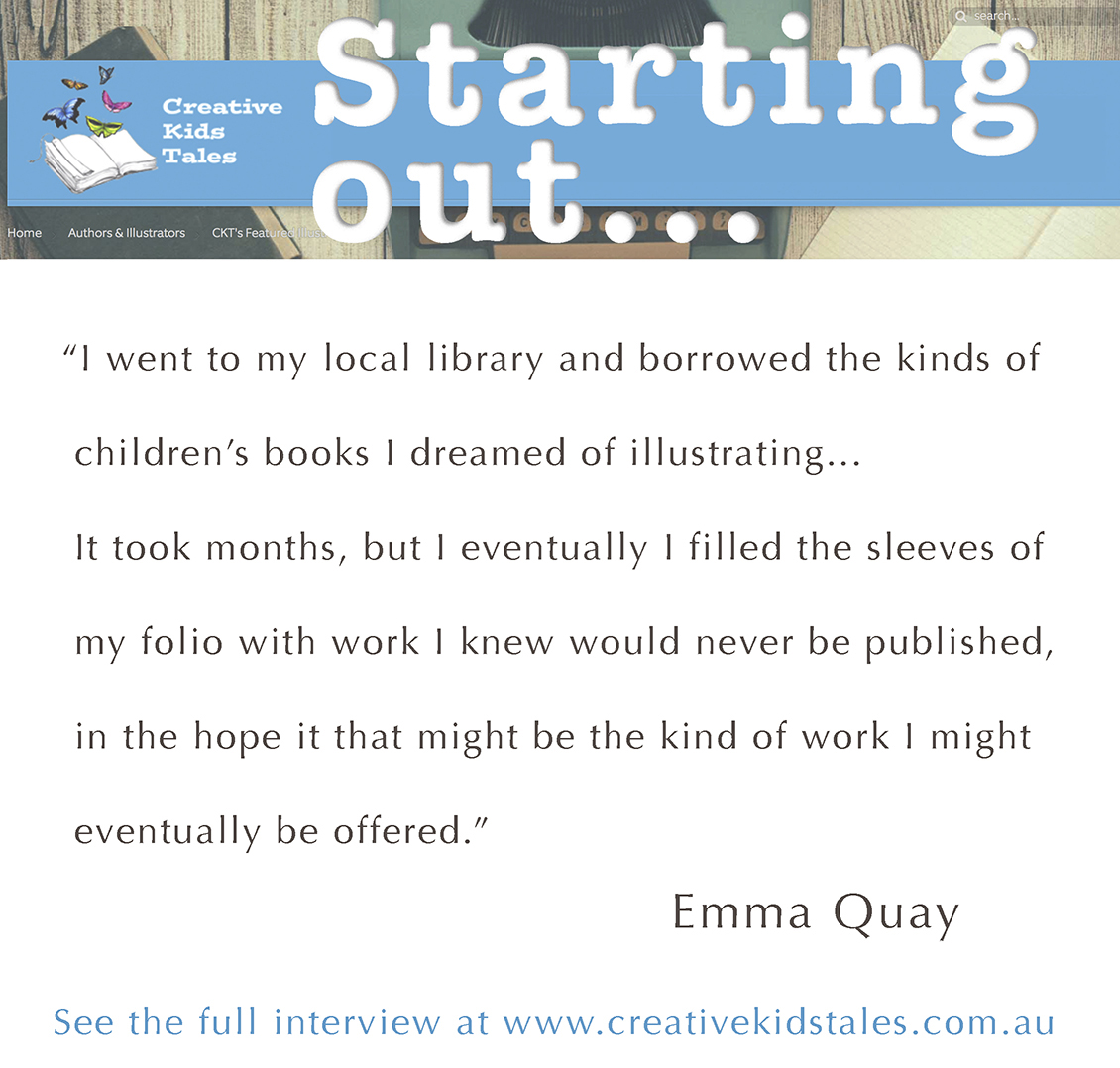 CREATIVE KIDS TALES interview with Emma Quay, picture book illustrator and author, Nov 2016 • http://www.emmaquay.com