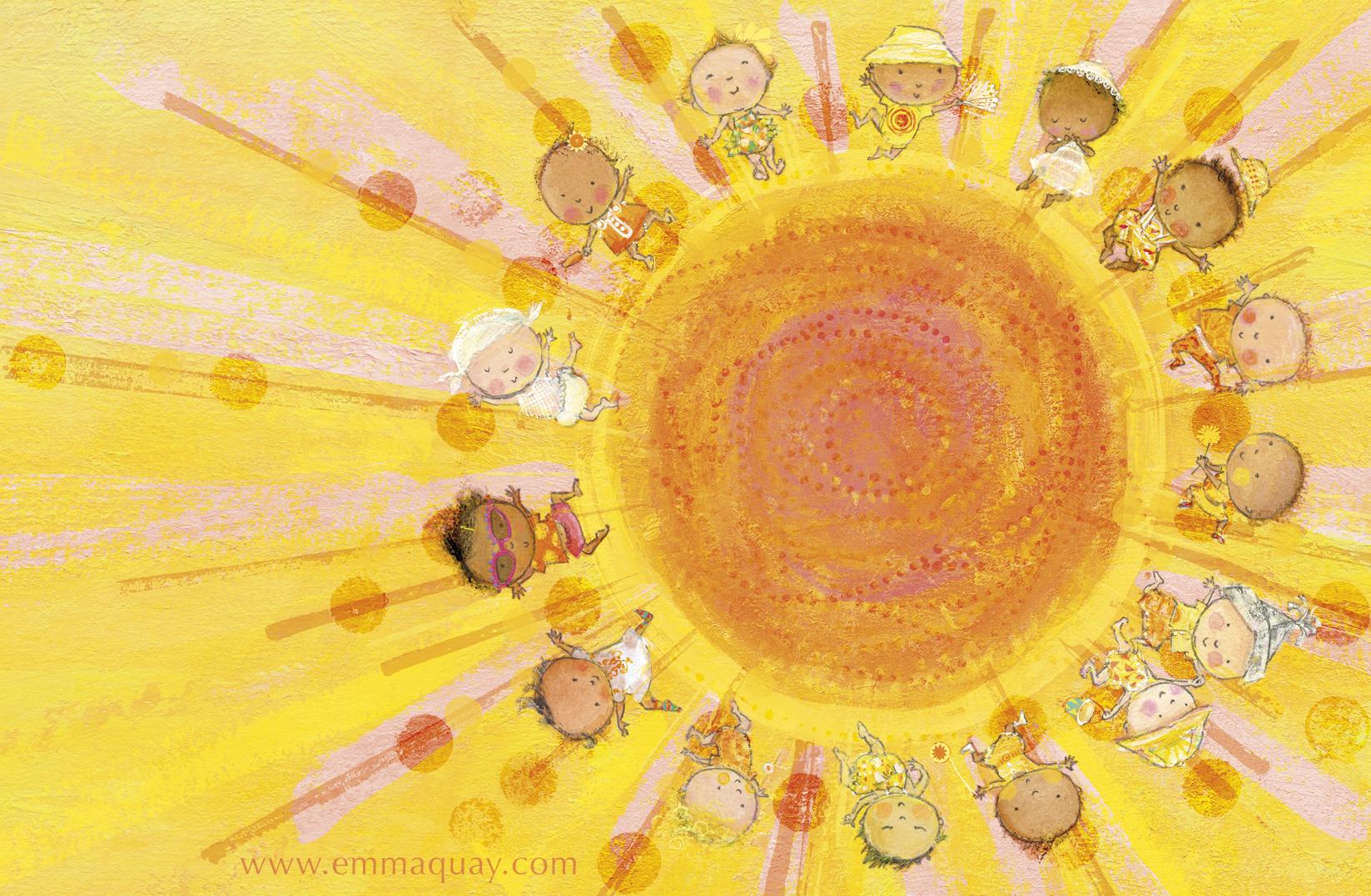 """If babies were sunbeams"" illustration from MY SUNBEAM BABY by Emma Quay (ABC Books) - www.emmaquay.com"
