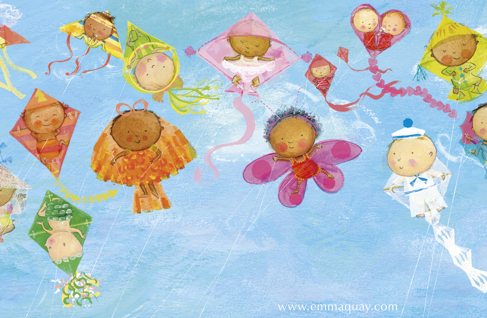 """If babies were kites"" illustration from MY SUNBEAM BABY by Emma Quay (ABC Books) - www.emmaquay.com"
