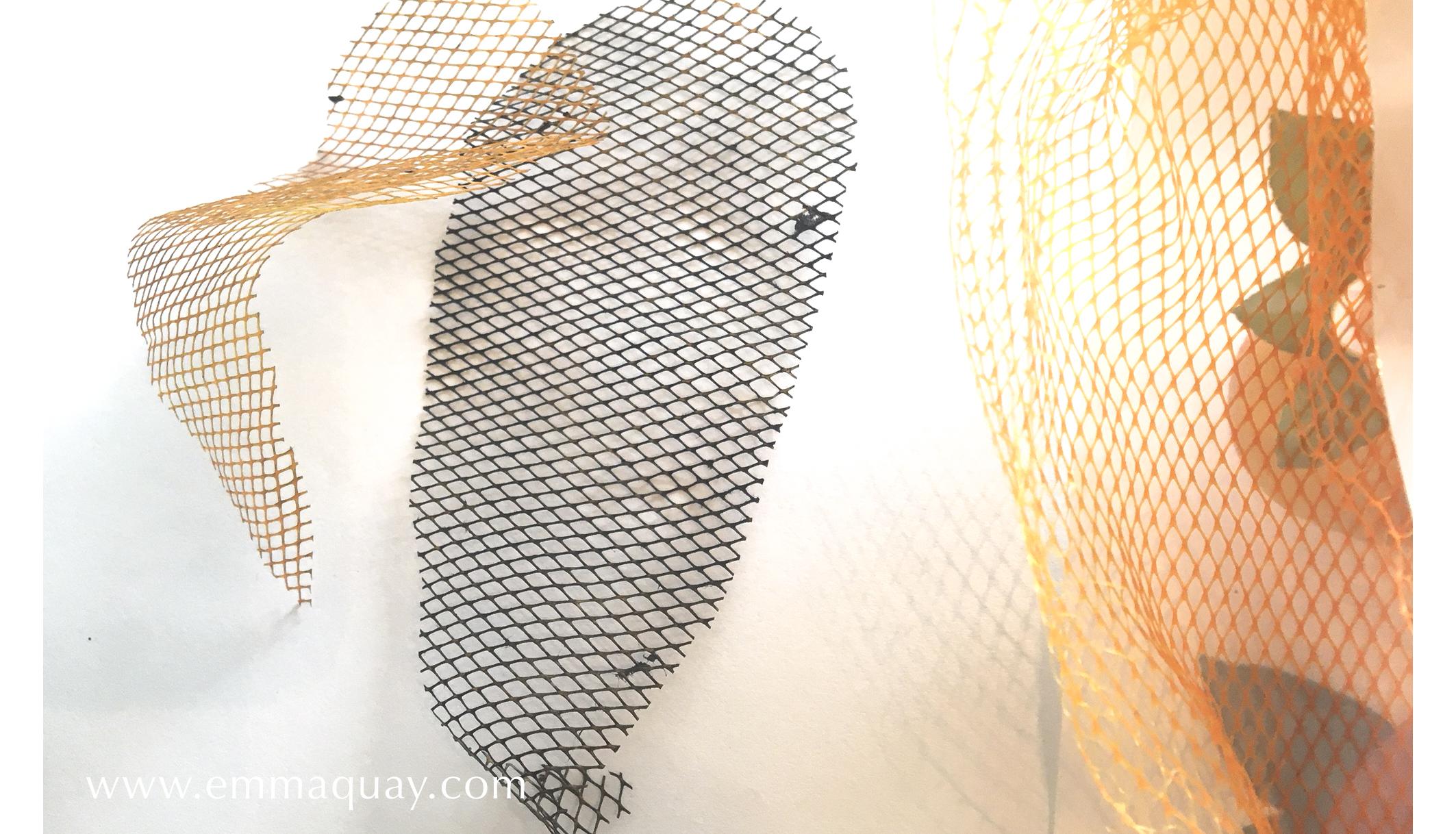 Illustrating MY SUNBEAM BABY - printing with net bags - www.emmaquay.com