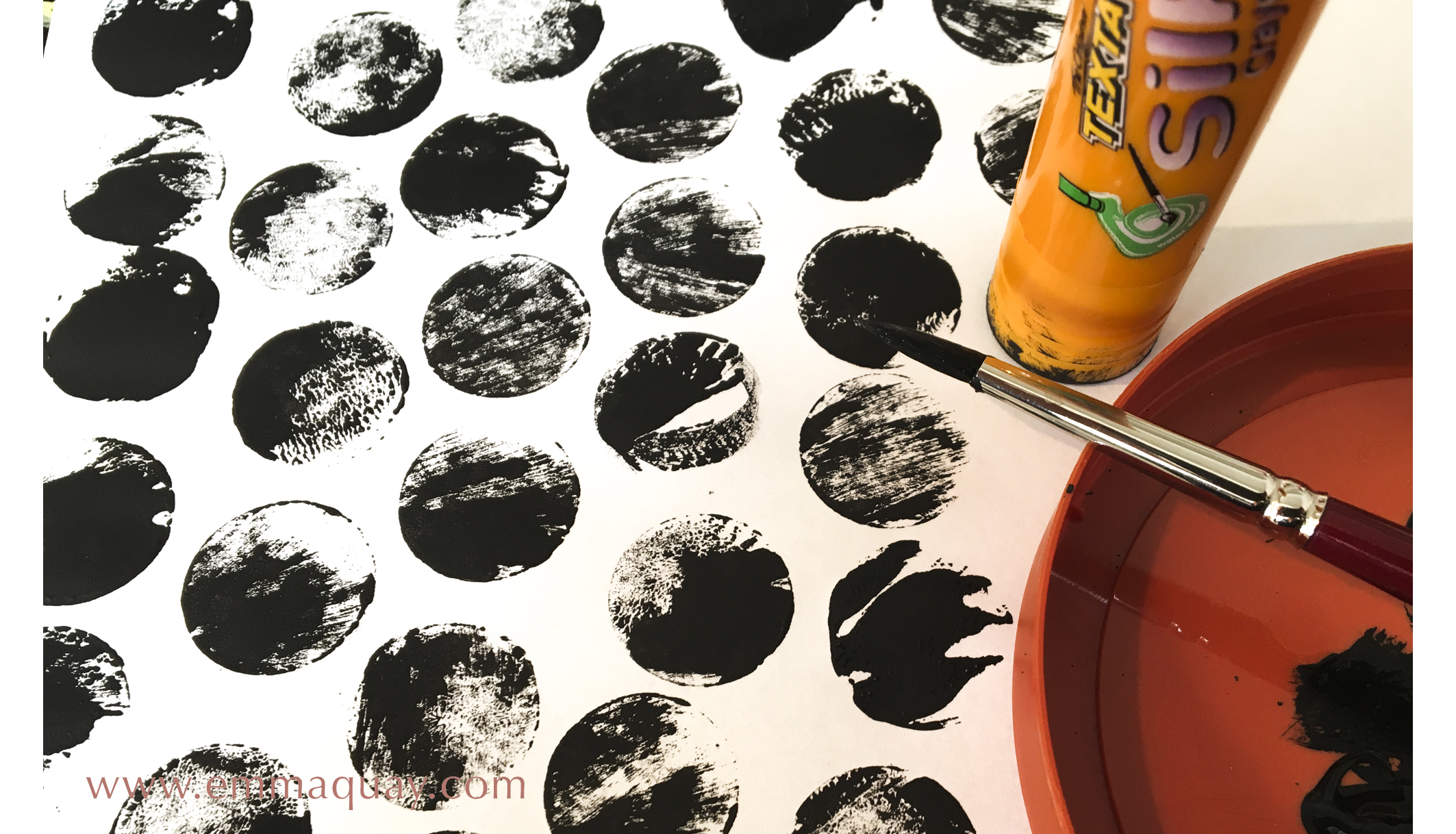 Illustrating MY SUNBEAM BABY - stamping with a lid - www.emmaquay.com
