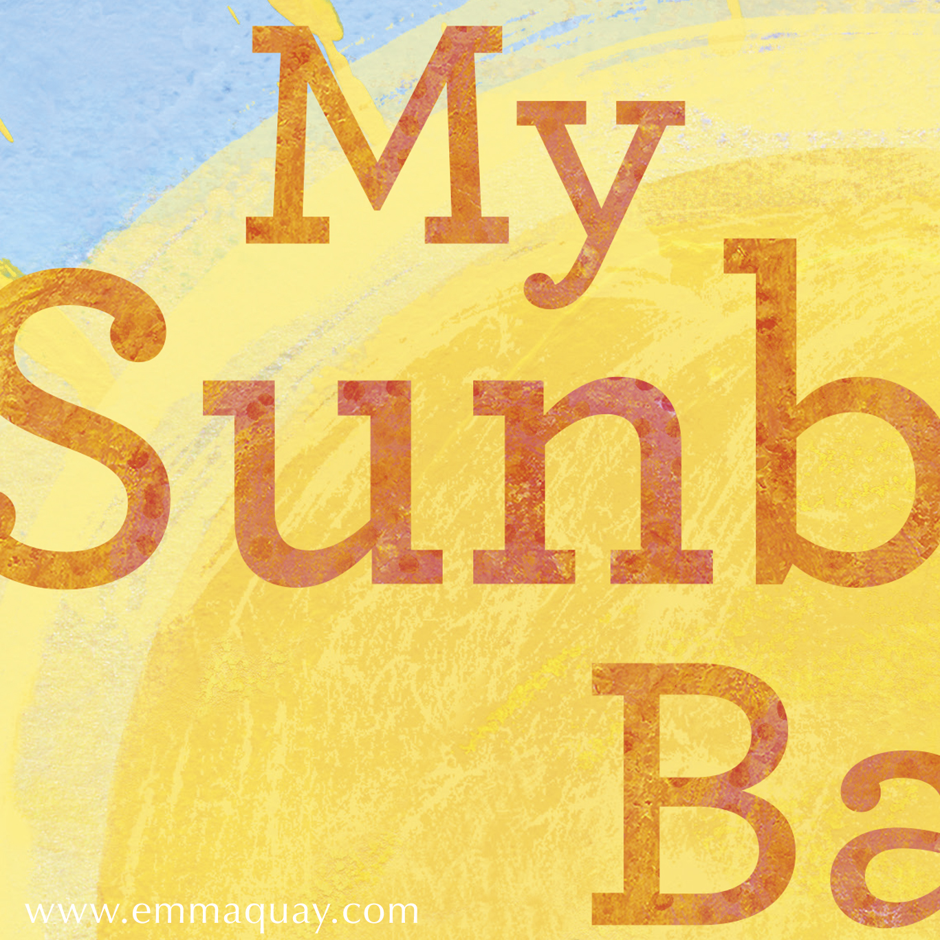 Detail from cover of MY SUNBEAM BABY by Emma Quay (ABC Books) - www.emmaquay.com