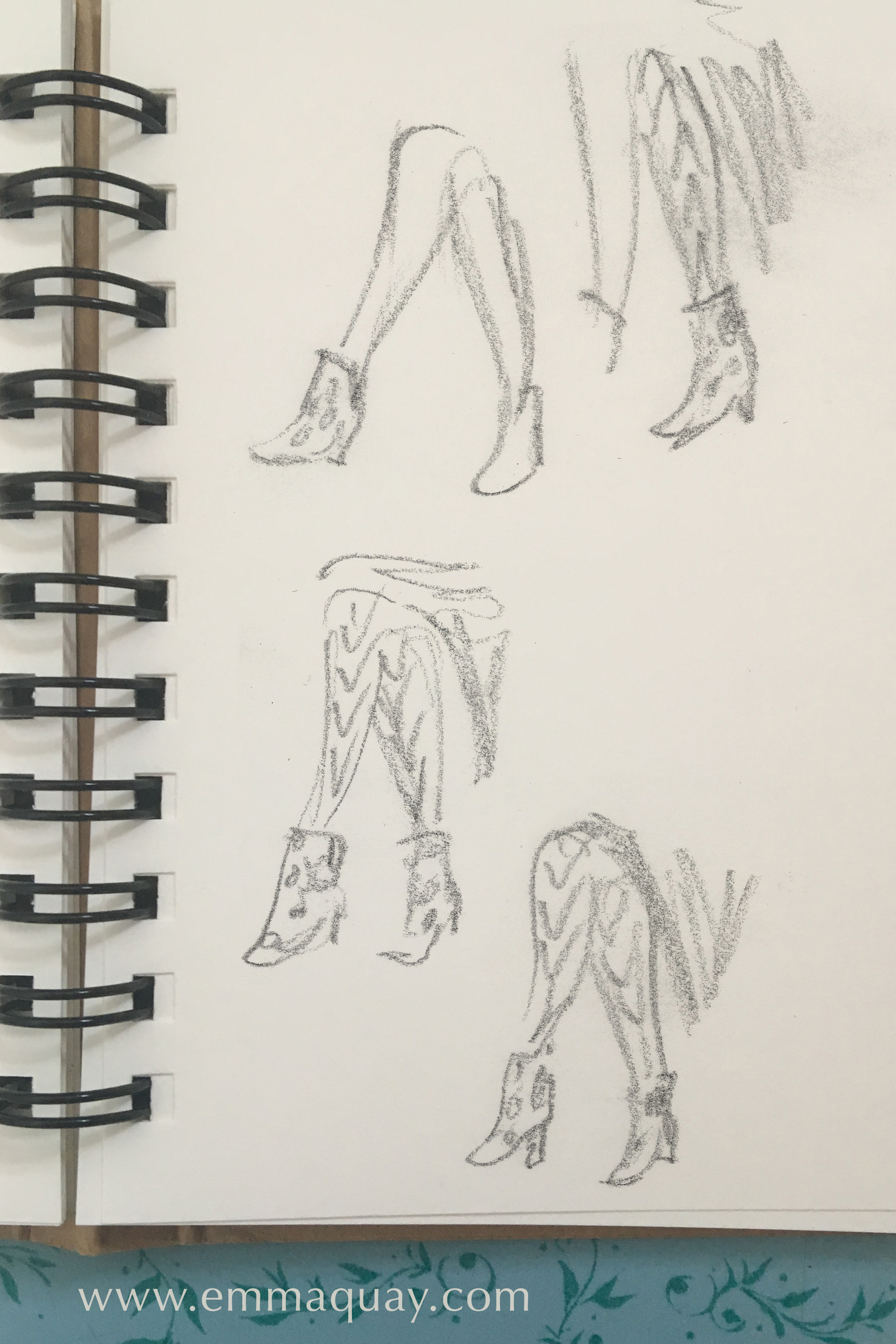 Rebecca Servadio's footwear, drawn at the VIPs Industry Forum #emmaquaysketchbook