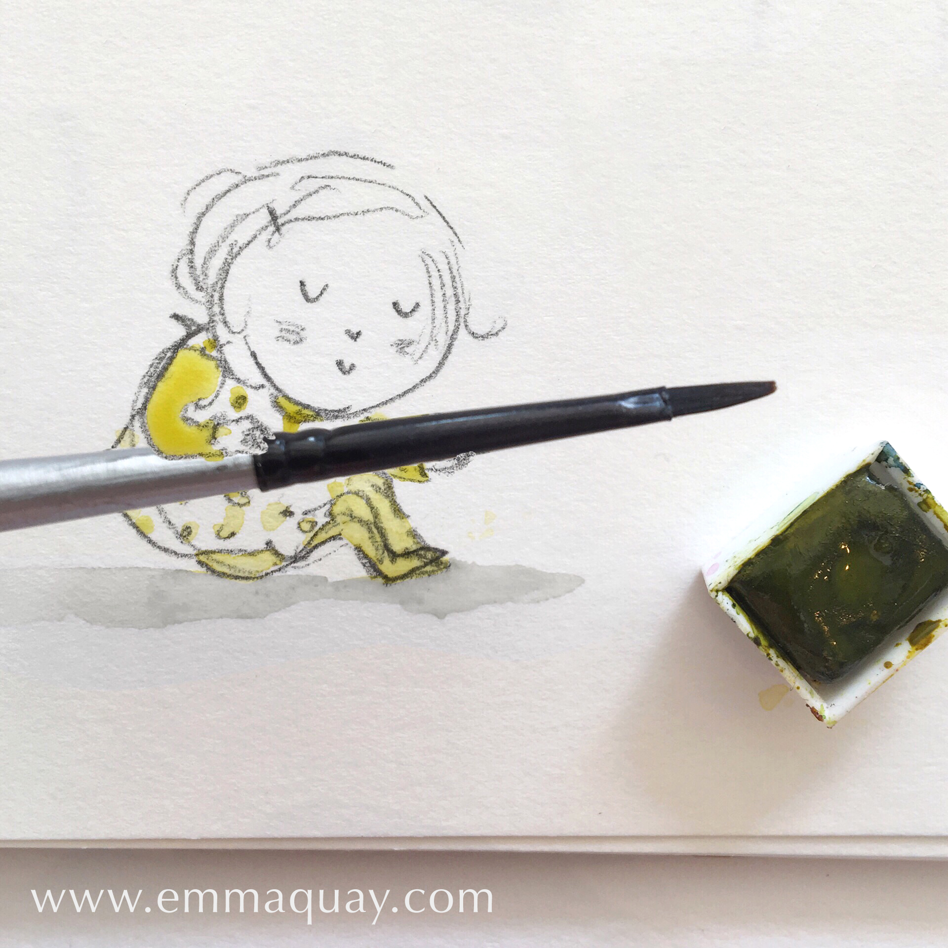Her favourite colour (Chartreuse) #emmaquaysketchbook